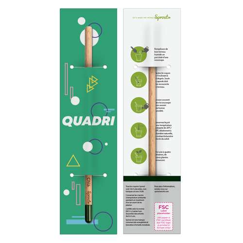 Crayons à planter - Crayon à papier graines à planter packaging personnalisable | Sprout - Pandacola