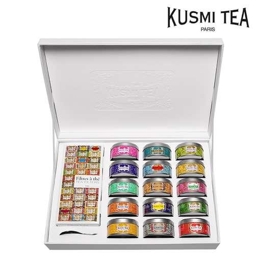 Thés - Coffret prestige composé de 15 thés | Kusmi Tea Collection - Pandacola