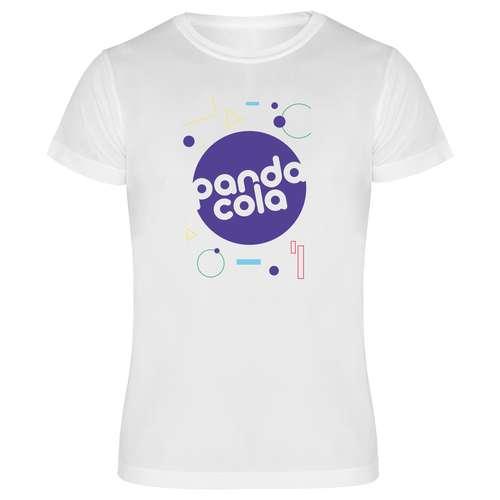 Tee-shirts - T-shirt de sport publicitaire mixte blanc à manches courtes 135 gr/m² - Nagoya Sublimation - Pandacola
