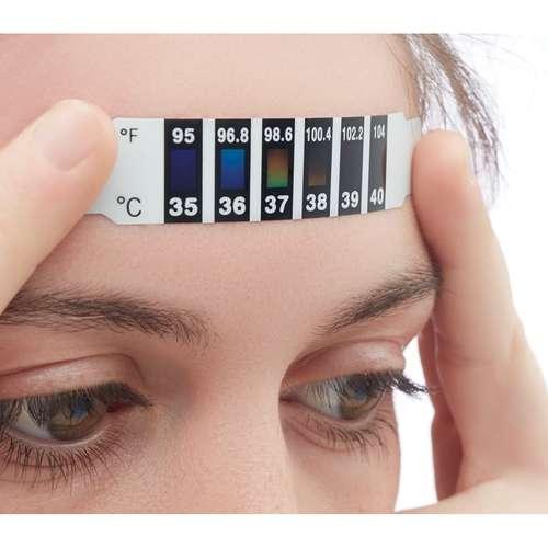 Thermomètres médicaux - Thermomètre frontal à usage unique avec indicateur de température - Fever - Pandacola