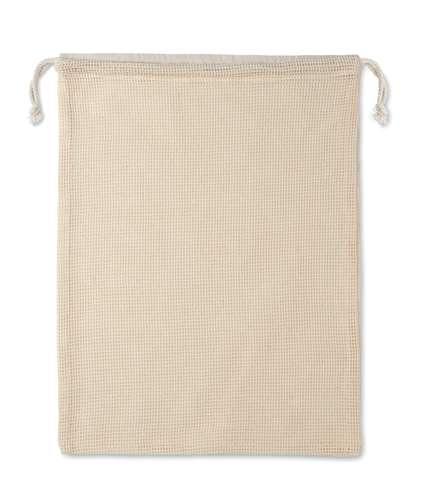 Sacs pochon/pochettes - Filet à provision personnalisé réutilisable en coton 140 gr/m² - Veggie - Pandacola