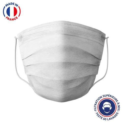 Masques de protection - UNS1 50 lavages made in France - Masque grand public à filtration garantie supérieure à 95% blanc | Barral - Pandacola