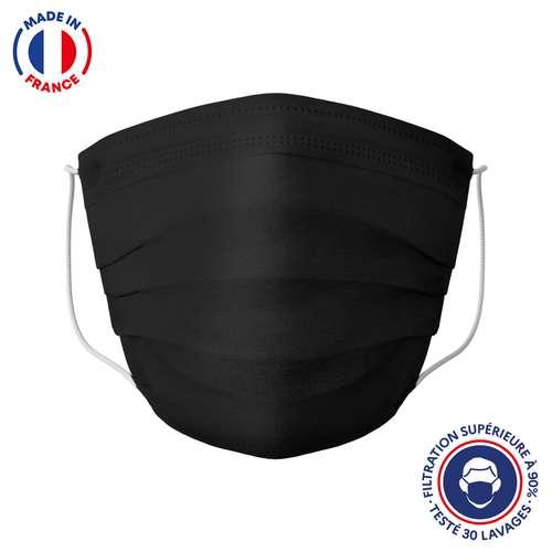 Masques de protection - UNS1 30 lavages made in France - Masque grand public à filtration garantie supérieure à 95% noir | Barral - Pandacola