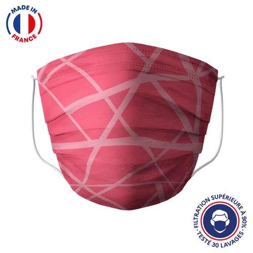 Masques de protection - UNS1 30 lavages made in France - Masque grand public à filtration garantie supérieure à 95% - zigzag | Barral - Pandacola