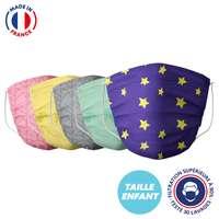 UNS1 30 lavages enfant made in France - Masque grand public à filtration garantie supérieure à 95% - A motifs |Barral - Pandacola