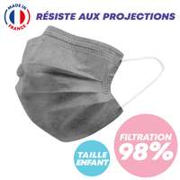 Masque chirurgical enfant type IIR - 99% de filtration - Masque de couleur made in France - Pandacola