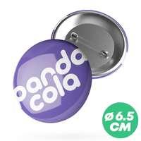 Badge personnalisé rond Ø6,5 cm - Paty - Pandacola