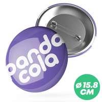 Badge personnalisé rond Ø15,8 cm - Paty - Pandacola