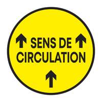 "Sticker de sol rond ""Sens de circulation"" avec flèches de direction - Guila - Pandacola"