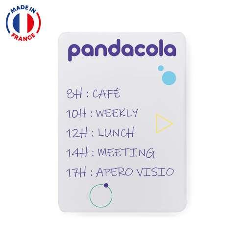 Tableaux magnétiques - Tableau blanc mural A2 ou A3 à bords arrondis à personnaliser - Pandacola