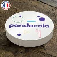 Sous verre publicitaire réutilisable en PVC Ø8 cm - Pandacola