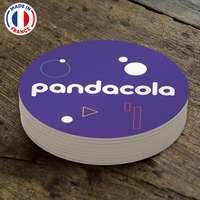 Sous-verre publicitaire réutilisable en PVC Ø10 cm - Pandacola