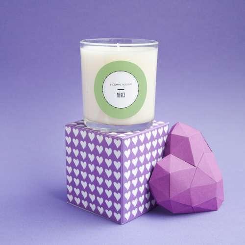 Bougies parfumées - Bougie 140g parfumée à l'amande - Merci - Pandacola