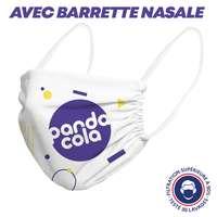 UNS1 30 lavages - Masque grand public élastiques blancs ou noirs barrette nasale à filtration supérieure à 94% marquage inclus - Xico - Pandacola