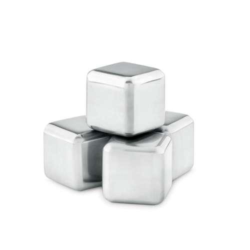 Sets à cocktails, shakers, cuillères à mélanger - Set  4 glaçons personnalisés en métal - Icy - Pandacola