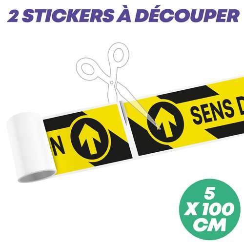"""Stickers pour le sol - Sticker de sol """"sens de circulation"""" à découper 100x5 cm - Mopa - Pandacola"""