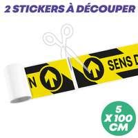 """Sticker de sol """"sens de circulation"""" à découper 100x5 cm - Mopa - Pandacola"""