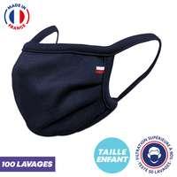 UNS1 enfant 100 lavages - Masque grand public à filtration garantie supérieure à 96% - Masque enfant fabriqué en France - Pandacola