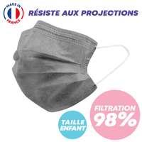 Masque chirurgical enfant type IIR - 99% de filtration - Masque de couleur made in France - Pandacola