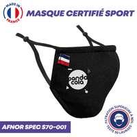 UNS1 certifié Sport 50 lavages personnalisé ultra respirant - Masque grand public à filtration garantie supérieur à 99% - Made in France - Pandacola