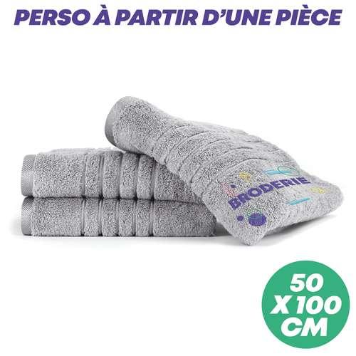 Serviettes de toilette (50x100) - Serviette de toilette personnalisée 50x100 cm 600 gr/m² - Brilliant - Pandacola