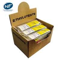 Présentoir pour 25 éthylotests jetables certifiés NF personnalisés avec embout fabriqué en France - Pandacola
