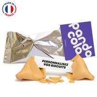 Fortune Cookies made in France avec carte publicitaire et messages personnalisables - Pandacola