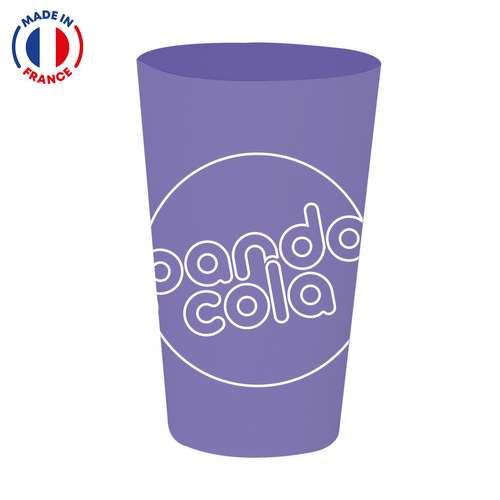 Gobelets réutilisables - Gobelet publicitaire réutilisable d'une capacité de 30 cl avec impression IML - Fresnozi - Pandacola