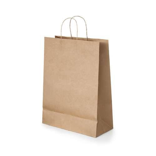 Sacs shopping - Sac publicitaire en papier kraft 115 gr/m² avec poignées 32 x 39 x 11 cm - Parc - Pandacola