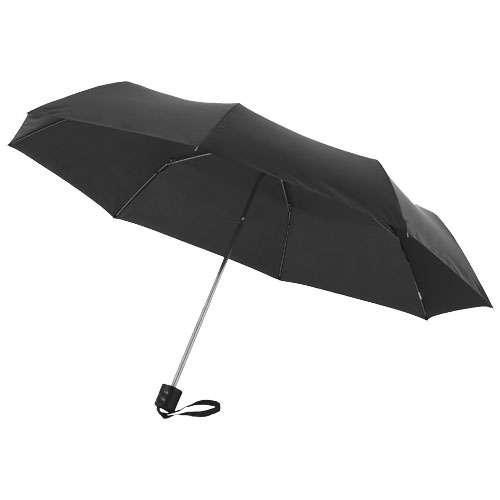 Parapluies classiques - Parapluie pliant personnalisé 3 sections manche droit - Ida - Pandacola
