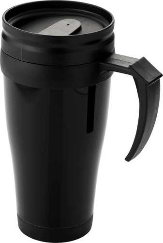 Mugs - Mug publicitaire à double paroi avec fermeture coulissante 400 ml - Daytona - Pandacola