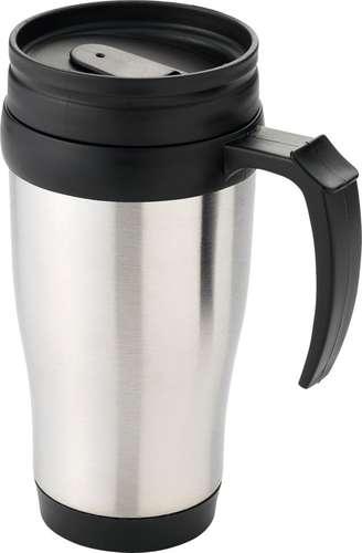 Mugs - Mug isotherme personnalisé double paroi en acier inoxydable 400 ml - Sanibel - Pandacola
