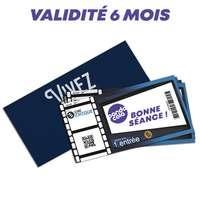 Ticket de cinéma personnalisable - Validité 6 mois - Pandacola