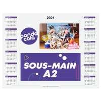 Sous main calendrier personnalisé 2021 en papier A2 - Handie - Pandacola