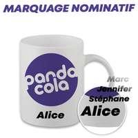 Mug céramique marquage sublimation et nominatif 300 ml - Newark Name - Pandacola