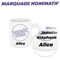 Mug promotionnel marquage sublimation et nominatif 200 ml - Newark Mini Name - Pandacola