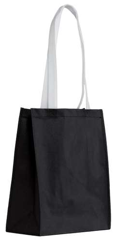 Sacs shopping - Sac shopping personnalisable anses blanches en non tissé - Madrid - Pandacola