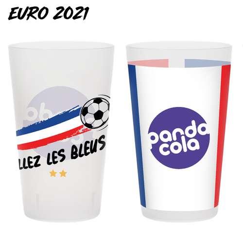 Gobelets réutilisables - Gobelet personnalisé spécial EURO 2021 réutilisable 25-33 cl - Pandacola