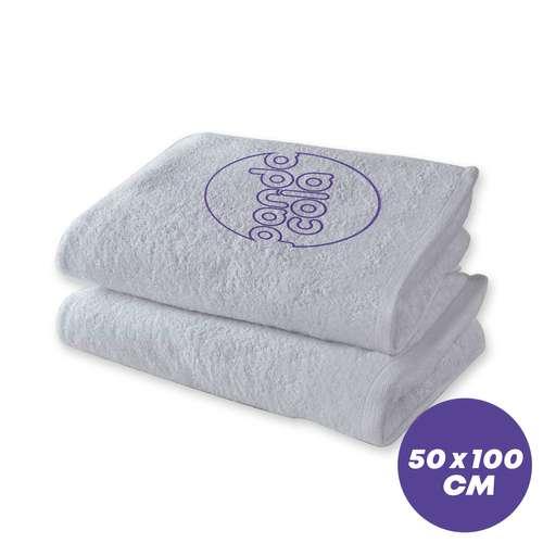 Draps de bain (100x150) - Serviette de toilette personnalisée 50x100 cm 400 gr/m² - Elitery - Pandacola