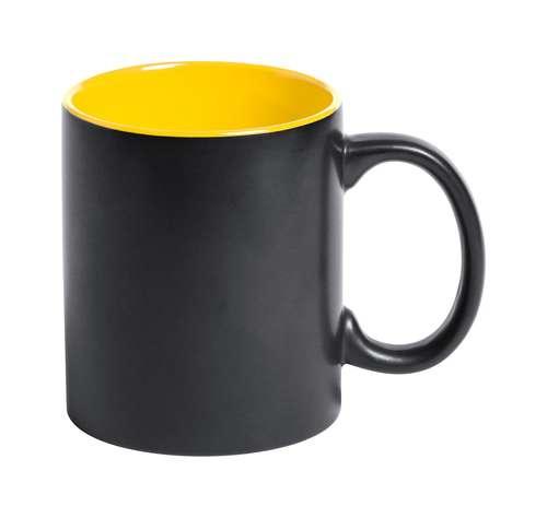 Mugs - Mug noir personnalisable depuis l'intérieur en céramique et coloré à l'intérieur 350 ml - Bafy - Pandacola