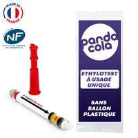 Ethylotest jetable et personnalisable certifié NF sans ballon fabriqué en France - Pandacola