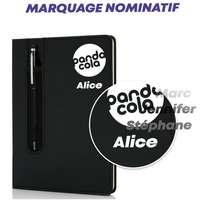 Carnet personnalisable avec marquage nominatif A5 avec stylo tactile - Ulysse own - Pandacola