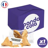 Coffret 1 fortune cookie made in France entièrement personnalisables - Pandacola