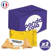 Coffret de 2 Fortune Cookies made in France entièrement personnalisables - Pandacola