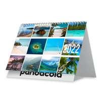 Calendrier chevalet personnalisé 2022 avec reliure spiraliée 13 feuillets - Iles de paradis - Pandacola