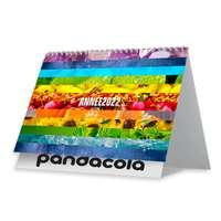 Calendrier chevalet personnalisé 2022 avec reliure spiraliée 13 feuillets - Couleurs - Pandacola