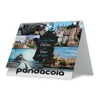 Calendrier chevalet personnalisé 2022 avec reliure spiraliée 13 feuillets - Château - Pandacola