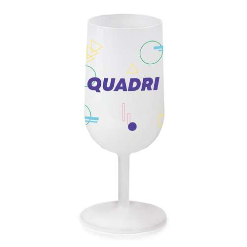 Verres à vin - Verre à vin publicitaire givré réutilisable 12-18 cl - Pandacola
