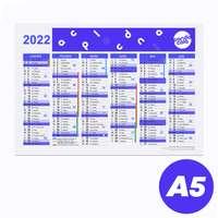 Calendrier publicitaire 2022 recto/verso format A5 - Alford - Pandacola