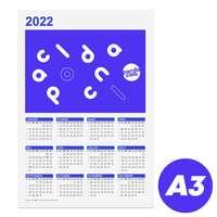 Calendrier personnalisé 2022 recto format A3 - Holmes - Pandacola